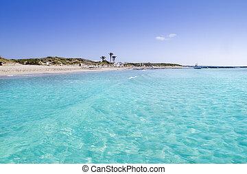 Illetas illetes turquoise beach shore Formentera