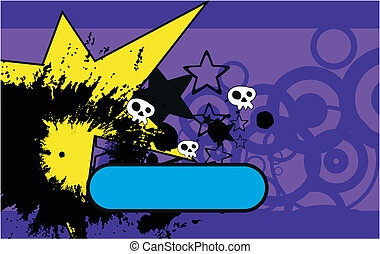 skull cartoon background3