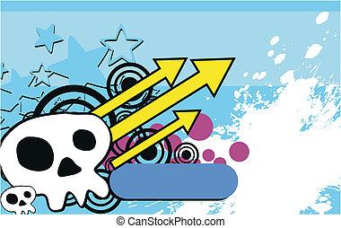 skull cartoon background6
