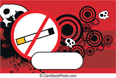 no smoke cartoon background in vector format