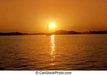 Formentera balearic island sunrise sea Illetas Balearic...