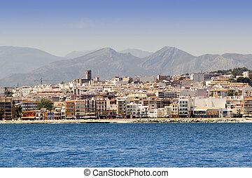Alicante Javea village view from mediterranean sea Spain...