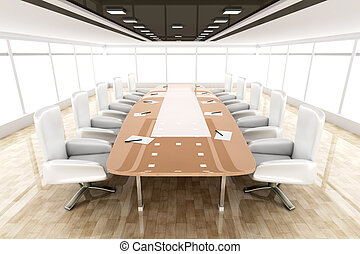 Conference Room - 3D rendered illustration.