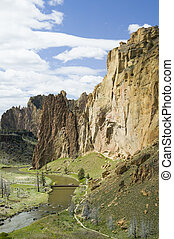 Smith Rock State Park in Oregon USA, nature stock...