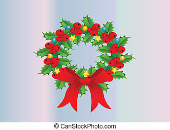 Wreath in Christmas