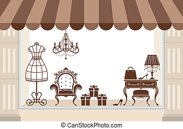 Window display - Illustration vector