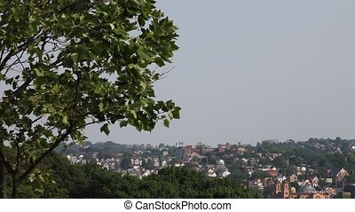 City view from top of a hill, HD