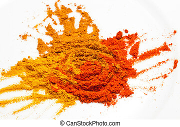 Tumeric, curry, and chilly powder - 3 key spices used widely...