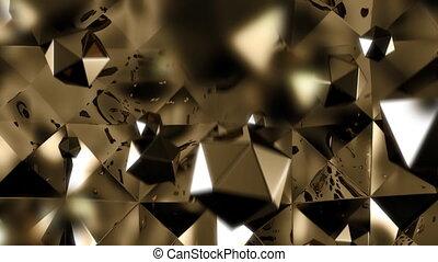 Golden spheres luxury background HD