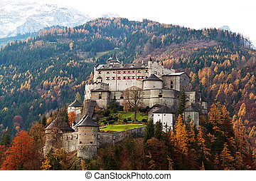 Burg Hohen Werfen, Salzburg, Austria - The Hohenwerfen in...
