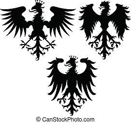 águia, crista, griffin, Ilustração