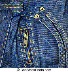 Small zipper - Small metal zipper on jeans