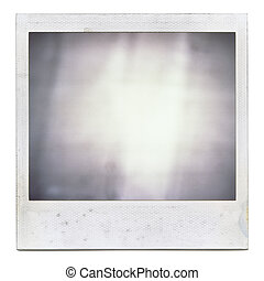 Grungy instant film frame with abstract filling