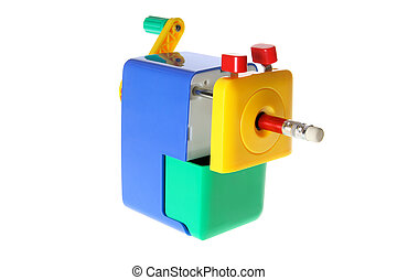 Pencil Sharpener on White Background