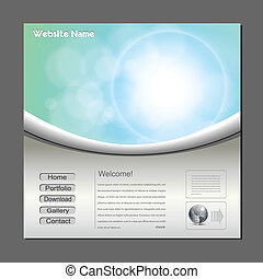 Website template, editable vector