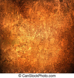 A cracked rusty metal wall. Background for design