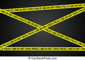 Police Investigation - Police line ?do not cross? on black...