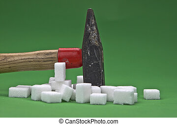 loosing weight - a hammer which is disturbing sugar cubes...
