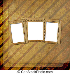 Abstract untidy ancient background in scrapbooking style with frame