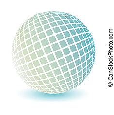 Soft colored globe vector. - Soft colored globe with a...