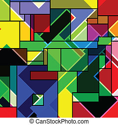 rectangular abstract pattern, vector art illustration