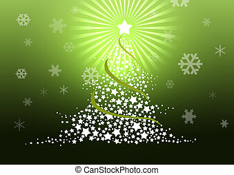 Christmas tree illustration.