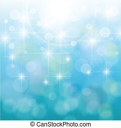 Abstract background, nature blue bokeh, vector