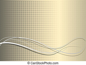 Abstract vector background, fantasy lines on gold.