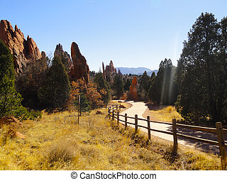 Garden od Gods, Colorado Springs - The Garden od Gods,...