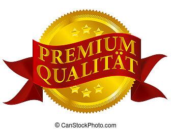 Premium Quality Seal - German Version - Red and Golden...