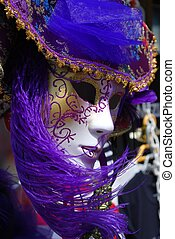 Carnival mask, Venice - Typical colorful souvenir carnival...