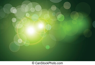 abstract background green - Vector background green and...