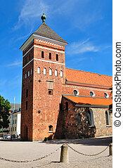 Uppsala, Sweden. Church Helga Trefaldighets Kyrka -...