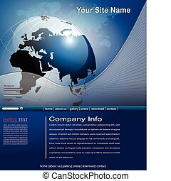 Business website template, editable vector.