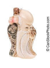 Chinese god - Shou-Xing - statuette of Chinese god -...
