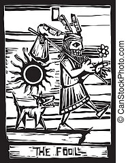 The Fool - the fool is the First image in a tarot card deck.