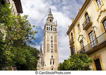 Cathedral of Seville, Spain, and the tower La giralda