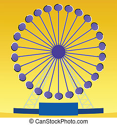 Optical illusion Ferris wheel with perceived clockwise...