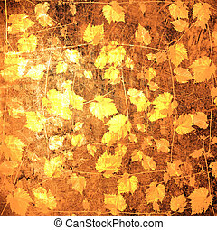 Abstract untidy ancient background in scrapbooking style with gold ornamental