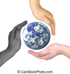 Friendship of the peoples - Planet the Earth in beautiful...