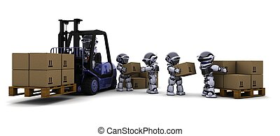 Robot Driving a  Lift Truck