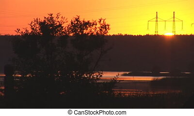 sunset power line 2