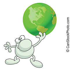 humanity - Concept of humanity holding the planets future in...