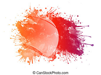 Tennis Ball in Watercolor Isolated on White Background.