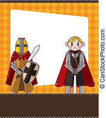 cartoon knight card