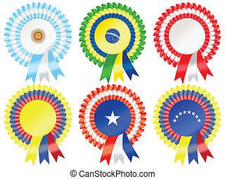 South American Rosettes - Rosettes to represent South...