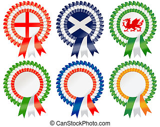 Six Nations Rosettes - Rosettes to represent the Rugby Six...