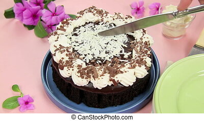 Slicing Mud Cake