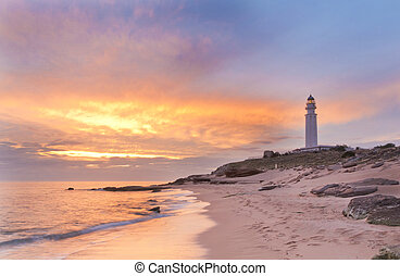 Lightouse & Pastel Colors - The lighthouse near Cadiz where...