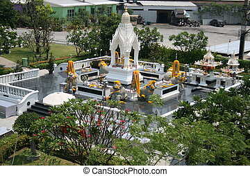 Buddhist shrine, Thailand.